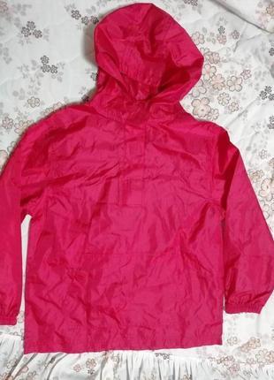 Куртка ветровка дождевик анорак с капюшоном  george на 9-10лет унисекс