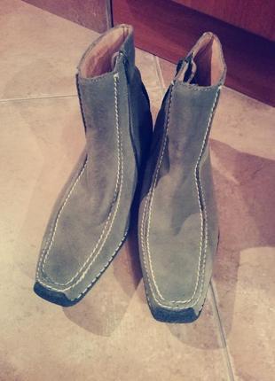 Очень удобные ботинки бренда blend натуральная кожа