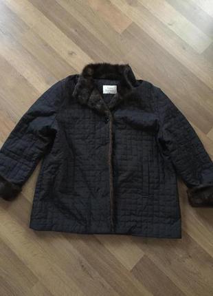 Куртка с воротником под норку marks & spenser