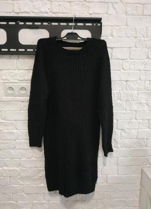 Крупная вязка, платье вязаное