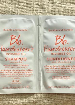 Набор пробников: шамнуь, кондиционер bumble and bumble hairdresser's invisible oil
