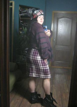 Актуальная трендовая твидовая теплая юбка от 102 115