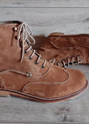Берцы ботинки полусапоги броги кларкс clarks 42 р 28,5 см замша