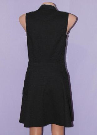 Черное котоновое платье с прошвой3 фото