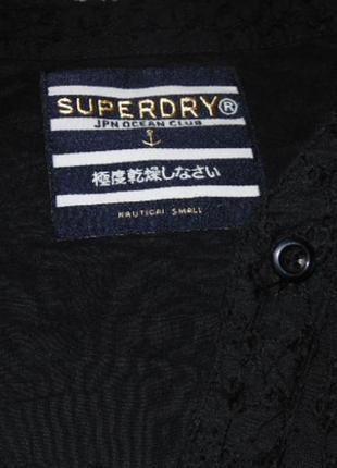 Черное котоновое платье с прошвой5 фото