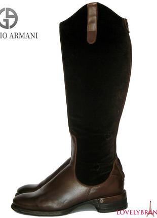 0a4ca8d6f Сапоги armani 100% кожа италия женские кожаные итальянские высокие сапожки  демисезон весна