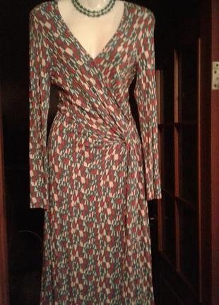 Платье с запахом драпировка по талии очень красивое трикотаж