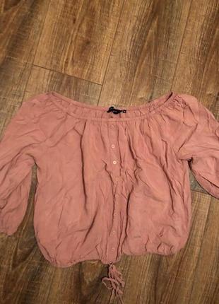 Блуза со спущенными плечами /кофта/рубашка на резинке