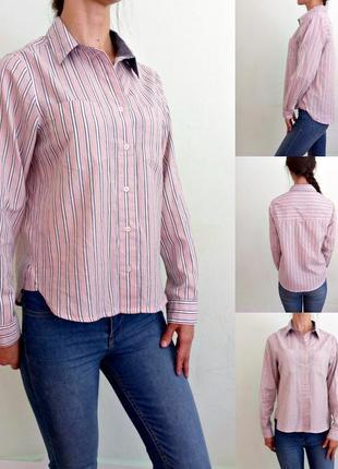 Актуальная блуза , рубашка в полоску - тонкий хлопок