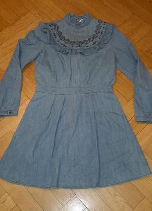 Шикарное джинсовое платье 12 размер