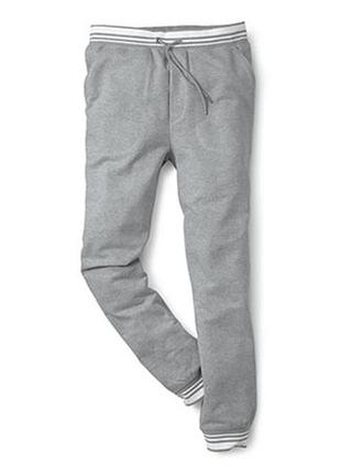 Теплые трикотажные штаны-джоггеры на флисе от тсм р. xl