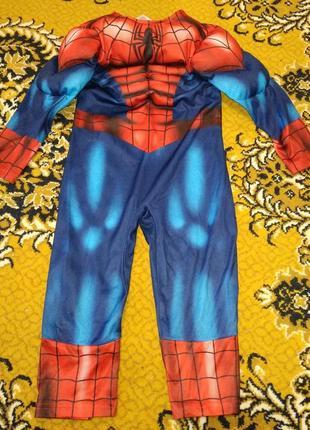 Карнавальный новогодний костюм спайдермен 3-4 г. 98-104 см