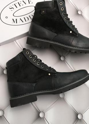 Steve madden ботинки кожаные мужские высокие шнуровка оригинал из сша 44-45