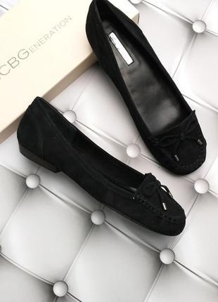 Bcbgeneration оригинал балетки мокасины лоферы черные замшевые бренд из сша