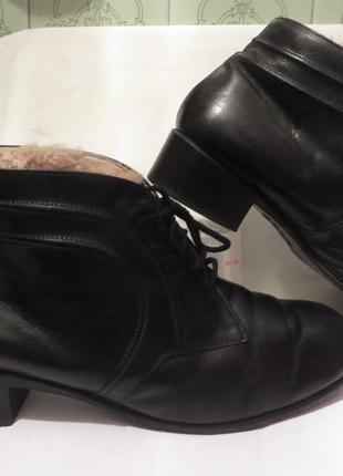 Ботинки кожа+цигейка 42 размер