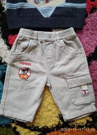Вельветовые штаники disney для мальчика