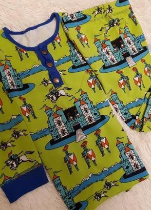 Matalan/качественная хлопковая трикотажная пижама рыцари мальчику р.110-116см