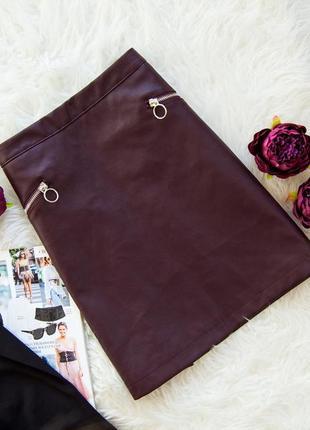 Крутая кожаная юбка primark