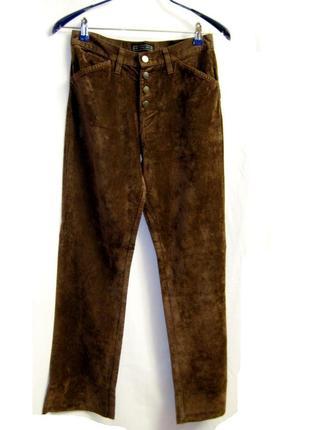Коричневые джинсы под замш р 29-30 теплые