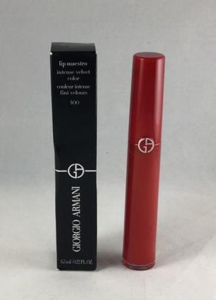 Жидкая помада для губ giorgio armani lip maestro #400 (the red)