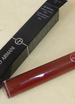 Жидкая помада giorgio armani lip maestro # 201 dark оригинал
