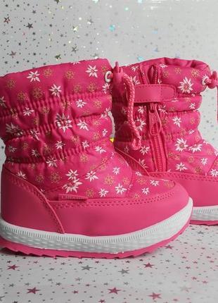 Зимние сапоги-дутики для девочки тм libang 22-26р розовые