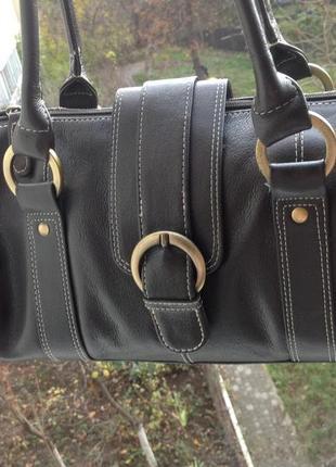 Кожаная дизайнерская сумка tommy & kate из натуральной телячьей кожи