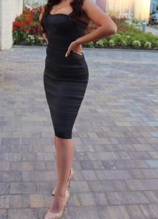 В наличии herve  leger платье чёрное сукня чорна