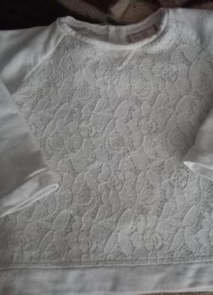 Свитер кофта кофточка белая zara 18-24