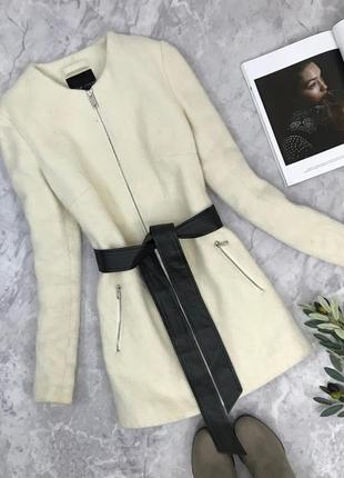 Пальто на молнии с контрастным поясом  ov 1843053 new look