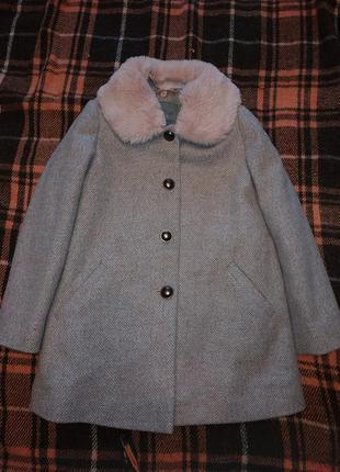 Комплект пальто некст и берет ручной работы