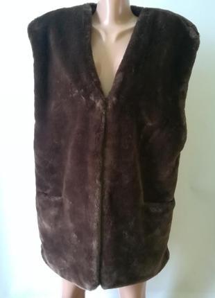 Теплая легкая меховая жилетка mariette