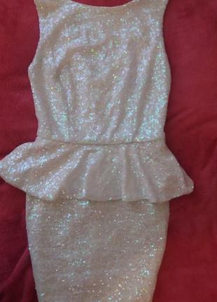 Платье в паетки topshop