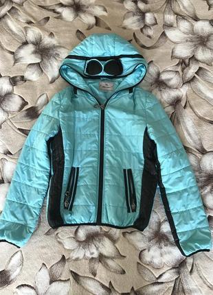 Бирюзовая куртка 🧥 пуховик на молнии