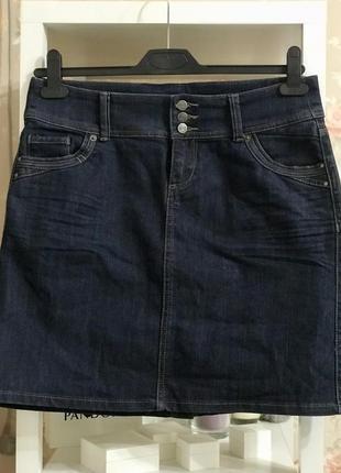 Джинсовая юбка нормальной длины, приталенная юбка zero denim