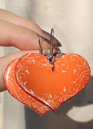 "Серьги ""дарю сердце"""