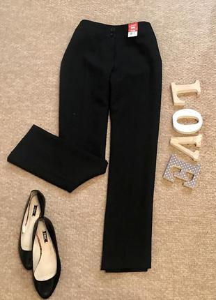 Классические чёрные широкие брюки f&f