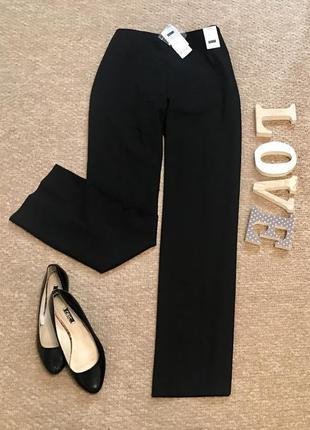 Классические чёрные широкие штаны next  в составе вискоза