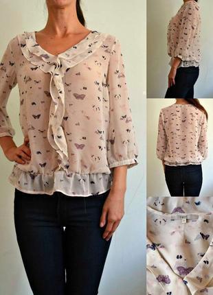 Шифоновая блуза в бабочках 10 next
