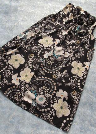 Идеальное черное платье с цветочным принтом р.10 м от papaya . тренд сезона!