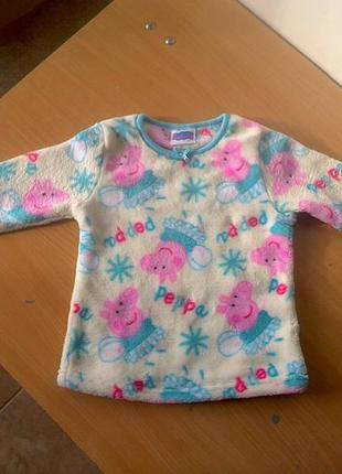 Пижама tu,   2-3 лет,   рост 92-98 плюшевая.