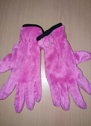 Новые плюшевые перчатки