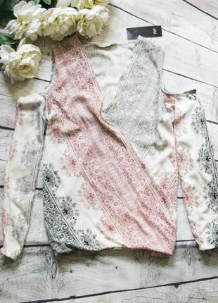 Вискозная блуза с прорезями на плечиках f&f