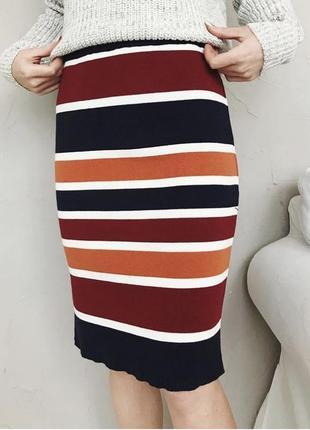 Миди юбка по фигуре на резинке new look