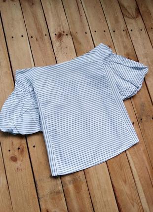 Хлопковая блуза на плечики