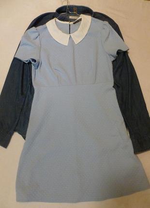 1+1=3 милое платье с воротником atm цвет неба обещает стать самым модным следующей весной
