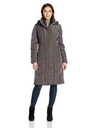 Женский пуховик calvin klein women's long maxi down coat