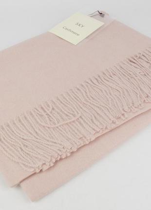 Плотный, нежный кашемировый шарф, палантин sky cashmere 7080-2 пудра