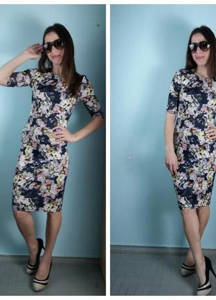 Платье миди с цветочным принтом atmosphere