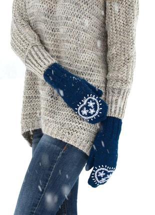 Sale. дизайнерские шерстяные варежки гжель от  tanya prince. рукавички.